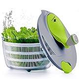 kilokelvin Kunststoff Küchen Salatschleuder 4 Liter Schnell Gemüse Trockner-BPA Kostenlos