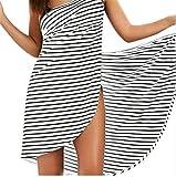 A1-Brave Badetuch Frauen Streifen Badetuch Wearable Beach Handtuch Strand Schürze Wickel Rock Wasseraufnahme Schnell Trocknen Sexy Sling Kleid (Color : White, Size : XX-Large)