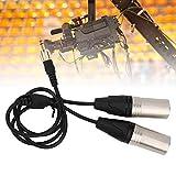 【𝐏𝐫𝐨𝐦𝐨𝐭𝐢𝐨𝐧 𝐝𝐞 𝐏â𝐪𝐮𝐞𝐬】 Prosty Kabel wyjściowy Audio, Audio Splitter,Audio Kabel,Lczarny podwójny Kabel wyjściowy Audio XLR, do mikrofonu do laptop
