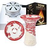 AO HMD Sandblasted, Top Smokebox-Set mit ATH Traverten Yakut & Kohle, Kopf-Set für Shisha, Wasserp