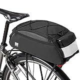SZSMD Fahrradtasche,Gepäcktasche,Gepäckträger Tasche Rucksack Seitentasche,Fahrrad Satteltasche, Fahrradtasche mit wasserdichter Warnleuchte