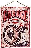 Agora Gifthouse Blechschild Garage Autorepair Service Geschenk Magnet Metall Schild lustiger Spruch Vintage Türschilder Nostalgie Deko Hausbar Hobbyraum Mencave Männerhöhle 40x29 cm