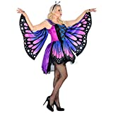 Amakando Elegantes Feenkostüm mit Schmetterlingsflügel / Violett M (38/40) / Märchenhaftes Elfenkostüm für Damen mit Flügeln / EIN Blickfang zu Fasching & Mottoparty