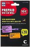 congstar Prepaid wie ich will [SIM, Micro-SIM und Nano-SIM] - Ihr Wunschmix in bester D-Netz Qualität inkl. 10 EUR Startguthaben. Mixen Sie Allnet-Minuten, SMS und MB so wie Sie es monatlich brauchen