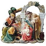 LIBINA Krippenstatuen für Innenräume, Weihnachtspanorama Krippenfiguren-Skulpturen Wohnkultur, Tischdekoration Kreative Dekoration,