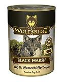 Wolfsblut | Black Marsh Pure | 6 x 395 g | Wasserbüffel | Nassfutter | Hundefutter | Getreidefrei