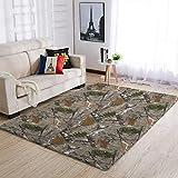 Uicoomhill langlebig Nadelbaumtarnung Teppiche Traditionell Bodenmatte - für Kinder Schlafzimmer White 50x80cm