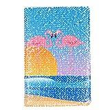 A5 Magic Flamingo Motto wendbares Pailletten-Notizbuch funkelnd glänzend glitzernd Planer Tagebuch Notizbuch Geschenk (B)