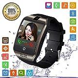 FENHOO Smartwatch Smart Watch Fitness Armband Uhr mit SIM Karte Slot Touchscreen Kamera Schrittzähler Musiksteuerung Kompatible Samsung Huawei Xiaomi Android ios Handy Damen Herren Kinder (Schwarz)