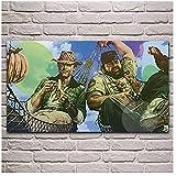 RZHSS Terence Hill Bud Spencer Film Artwork Leinwand Malerei Wohnzimmer Home Wandkunst Dekoration -24X36 Zoll Ohne Rahmen