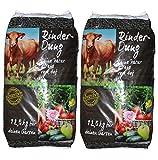 packsaus Quadro 25kg RinderDung gekörnter Naturdünger, Kuhmist, Rindermist, Obst und Gemüse