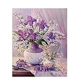 Malen nach Zahlen für Erwachsene Kinder Blumen Bild DIY handgemalte Ölgemälde Zeichnung auf Leinwand Home Decoration A20 50x70cm