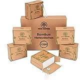 TRUE NATURE® [1200] Bambus Wattestäbchen - Dermatologisch zertifiziert - Plastikfreie Ohrenstäbchen - Q Tips ohne Plastik - Cotton Buds - 100% biologisch abbaubar - inkl. Ebook