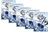 WC FRISCH Winter Edition Eisbrecher, WC-Reiniger und blaues Wasser, Sparpack 5x 1 Stück, Farbspüler mit 50 Prozent mehr Glanz