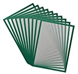 Tarifold Es 195245 Magneto Pro 10 Informationsrahmen magnetisch A3 für Dokumente, Hinweise, Schilder, Austausch und schnelles Einsetzen - magnetische Rückseite aus Metallflächen, grün, 10 Stück