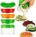 Vegetable spiral cutter, spiralizers, manual graters & slicers, 3-Blade Handheld Vegetable Chopper Slicer Cutter Hand Spiralizer for Vegetables