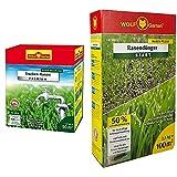 WOLF-Garten - Trocken-Rasen Premium L-TP 50, rot & Rasen-Starter-Dünger LH 100; 3833030
