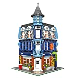 SESAY Haus Bausteine Bausatz, 3-Etagen Corner Hotel Modular Architektur Modell, 3225 Teile Kompatibel mit Lego