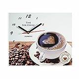 FLEXISTYLE Moderne Küche Wanduhr Kaffee Liebe, rechteckig, wanduhr deko, 25 x 30 cm