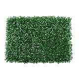 YUNJINGCHENMAN Zäune 10 stücke künstliche boxwebelplatten, 24'x16 Faux Boxwood matten, Hedge divacy zaunbildschirm Faux grüne Wand Panel dekorativ geeignet für Outdoor Indoor eignet