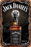 Cimily Jack Daniels Vintage Blechschilder Zinn Poster Retro Metallschild Plaque Art Wanddekoration 8 × 12 Zoll