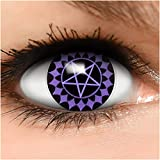 Sharingan Kontaktlinsen Black Butler in lila inkl. Behälter - Top Linsenfinder Markenqualität, 1Paar (2 Stück)