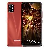 CUBOT Note 7 Smartphone ohne Vertrag, 4G Handy, 5.5 Zoll HD Display, Android 10, 3100mAh Akku, 3 Kameras, 2GB/16GB, 128GB erweitbar, Dual SIM, Face ID, Rot