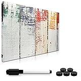 Navaris Magnettafel Magnetpinnwand Memoboard zum Beschriften - 60x40 cm Notiztafel div. Designs - Tafel abwaschbar mit Halterung Magneten S
