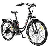 VIVI E-Bike Elektrofahrrad, 26 Zoll Pedelec Elektrisches Fahrrad 350W Citybike Elektrofahrräder mit Abnehmbarer 8Ah Lithium-Batterie, Shimano 7-Gang (26 Zoll Schwarz)