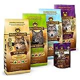 Wolfsblut | Mixpaket Trockenfutter groß | 4 x 2 kg + 225 g Cracker | Getreidefreies Hundefutter