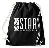 Styletex23 Star Laboratories Labs Logo Turnbeutel Sportbeutel, schwarz