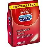 Durex Gefühlsecht Kondome – Hauchzarte Kondome für intensives Empfinden und innige Zweisamkeit – 40er Großpackung (1 x 40 Stück)