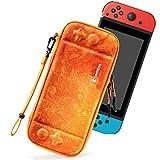 tomtoc Slim Tasche für Nintendo Switch, Hartschale Tragetasche kompatibel mit 10 Spiele und Switch Konsole, Aufbewahrung Case mit Original Patent und Militärischem Schutz, Mars