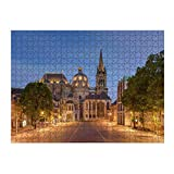 artboxONE Ravensburger-Puzzle L (500 Teile) Reise Aachener Dom am Abend - Puzzle Aachen aachener D