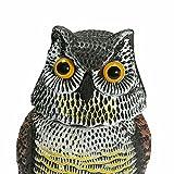 ConPush Eule Taubenschreck ertönt EIN Piepton Vogelabwehr Lockvogel Vogelscheuche Vogelattrappe Taubenabweh mit Wackelkopf