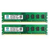 Motoeagle 8GB Kit (2x4GB) DDR3-1333 PC3 10600 10600U 4GB UDIMM Unbuffered Non-ECC 1.5V CL9 2Rx8 240-Pin Desktop Arbeitsspeicher