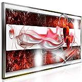 decomonkey Bilder Abstrakt 150x50 cm 1 Teilig Leinwandbilder Bild auf Leinwand Vlies Wandbild Kunstdruck Wanddeko Wand Wohnzimmer Wanddekoration Deko Modern Herz