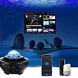 Tuya/Smart Life Star-Projektor Galaxy-Projektor, Galaxy-Projektor-Lampe mit Bluetooth-Lautsprecher-Timer-Funktion, Alexa-Sprachsteuerung, APP-Fernbedienung, für Kinderzimmer, Zuhause, Party, Geschenk