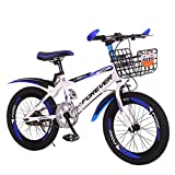 Chenbz Kinderfahrräder Kindergarten Outing Fahrräder Outdoor-Mountainbikes Jungen und Mädchen Radfahren Außen Fahrräder for Kinder von 6-10 Jahren (Farbe: blau, Größe: 18 Zoll)