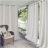 XUIAQZW Outdoor Vorhänge Wasserabweisend Blickdicht Gardine mit Ösen, Aussenvorhang Terrasse Garten Verdunkelung Vorhang Sonnenschutz Thermo Outdoor