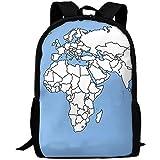 Daypacks,Weltkarte Geografische Erwachsene Reise Rucksack Schule Casual Daypack Oxford Outdoor Laptop Tasche College Computer Umhängetaschen