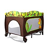 jooe Travel Bed Dream N Play Plus, Incl. Hauck Travel Bed Mattress, Portable and Foldable