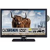 Telefunken T22X740 mobil Full HD LED Fernseher 22 Zoll 55 cm TV mit DVD DVB-S/S2, DVB-T2, DVB-C, USB, 230V / 12 Volt Fernseher