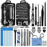 oGoDeal 127 in 1 Mini Feinmechaniker Schraubendreher Werkzeug Set und öffnungswerkzeug für iPhone, PC, Laptop, iPad, Tablet,Computer, MacBook, Brille, Xbox, Uhren, Kamera Reparatur (grau)