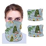 GSNWFG Tree Rex Cadet Blue Winddicht Gesichtswärmer Schal Stirnband, Mehrzweck-12-in-1 Stirnbänder für Sport Laufen 2 Stück, 25 x 50 cm