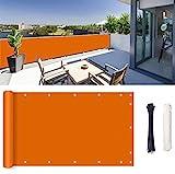 ROBAG Sichtschutz für Balkon Balkonumspannung, Wasserabweisend Sonnenschutz, Privatsphäre Sichtschutz Bambus Balkon Deko für Balkongeländer 0.6x3m