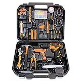 XIAOLINGTONG Werkzeugset Mit Bohrmaschine 12V Akku Für 55 Zubehör Akku-Reparaturset Für Zuhause Werkzeugset Für Tägliche Heimwerkerprojekte Reparatur & Wartung