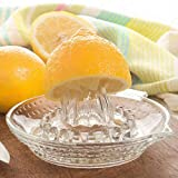 feiren Manuelle Saftpresse aus Glas für Zitrusfrüchte, Küche, Orangen-, Limetten-, Zitronenpresse, Fruchtpresse, Saftmaschine, Obstextraktor, Küche