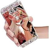 Miagon Hülle Glitzer für Xiaomi Redmi Note 8T,Kristall Glänzend Strass Diamant Überzug Spiegel Bewirken Weich Silikon Schutzhülle mit Bär S