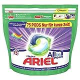 Ariel Waschmittel Pods All-in-1, Color Waschmittel, Frischer Wäscheduft und Farbschutz, 75 Waschladungen